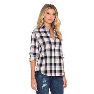 Joe's Jeans Jamie Plaid Shirt Size M NWT